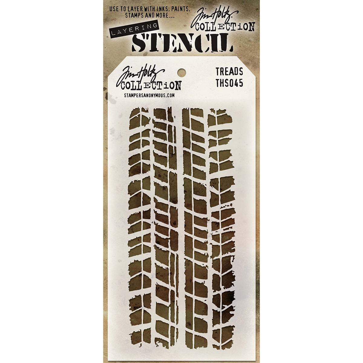 Tim Holtz Layered Stencil 4.125X8.5-Treads
