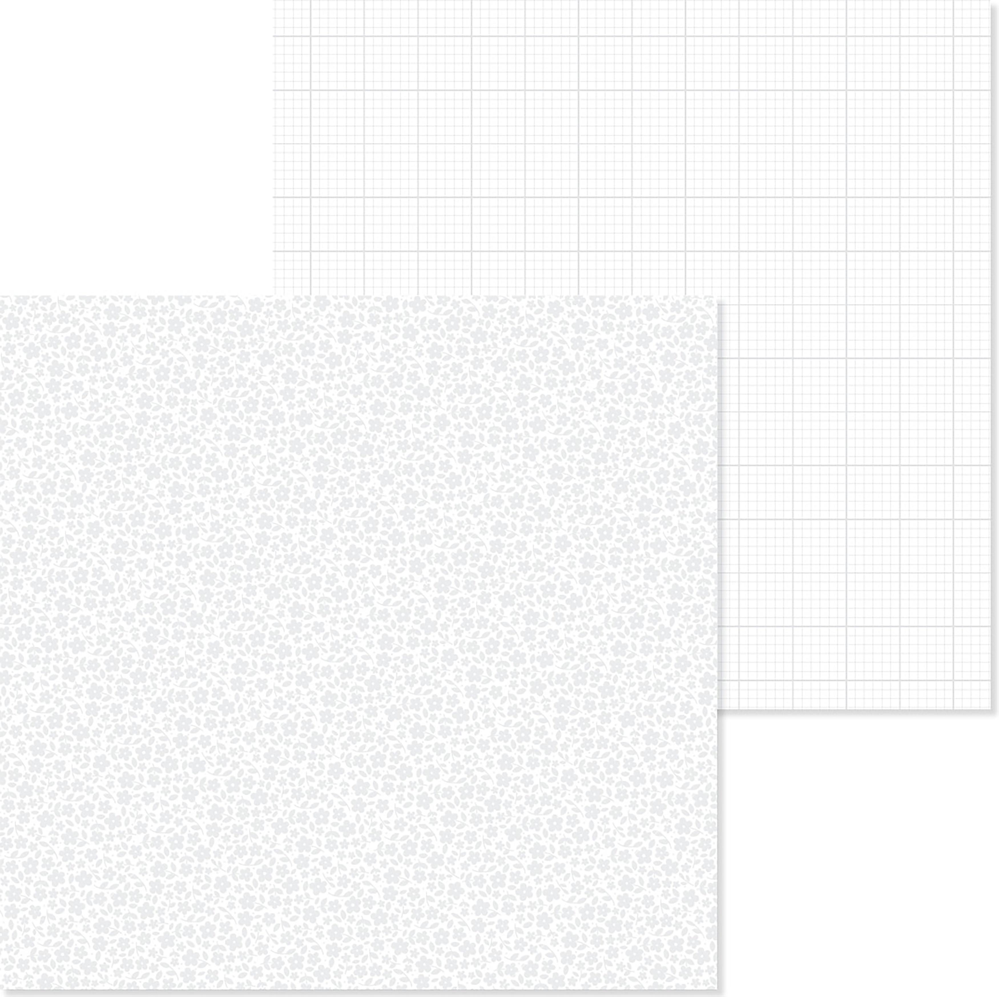PPR - PETITE PRINT FLORAL GRAPH LILY WHITE