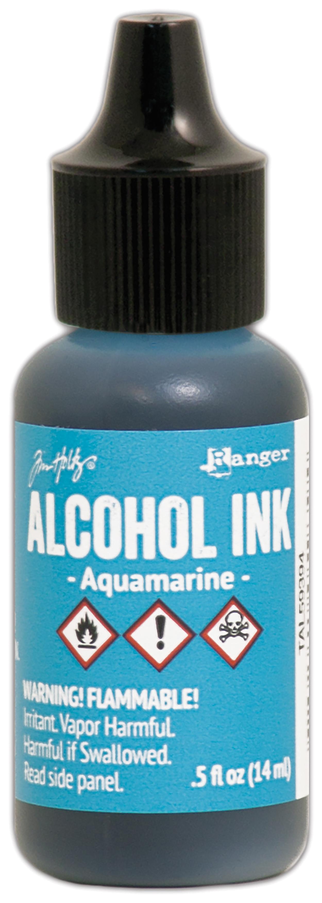 Aquamarine Alcohol Inks