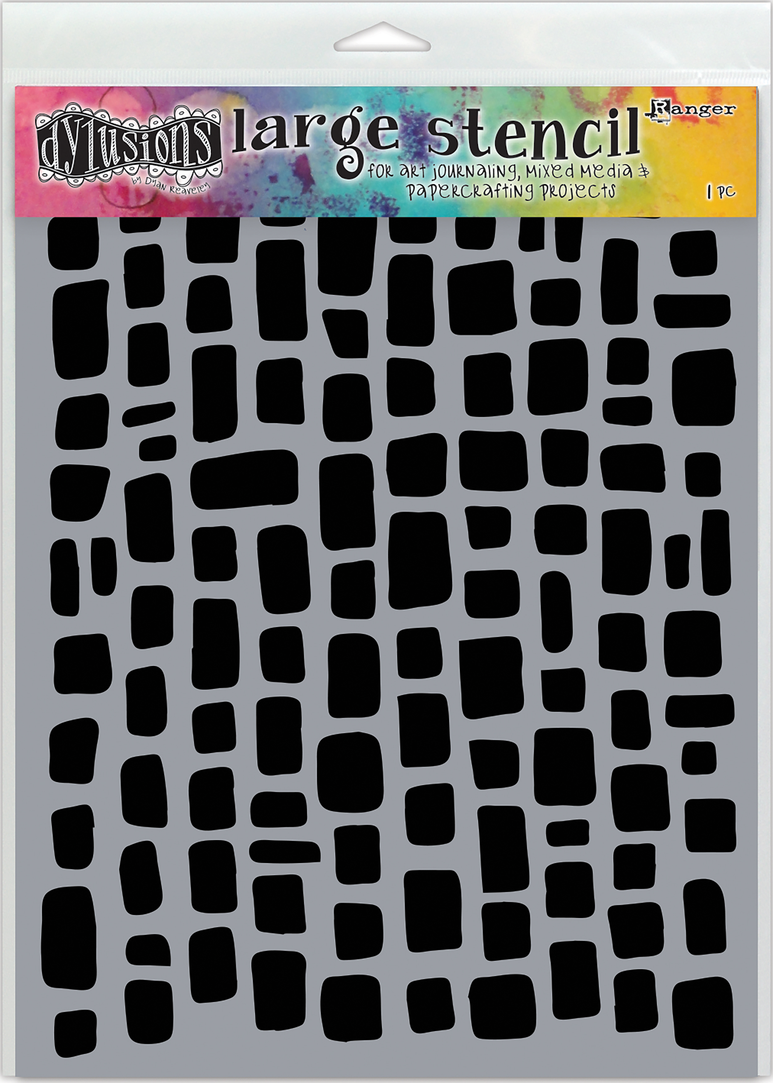 Dyan Reaveley's Dylusions Stencils 9X12-Sugar Lumps