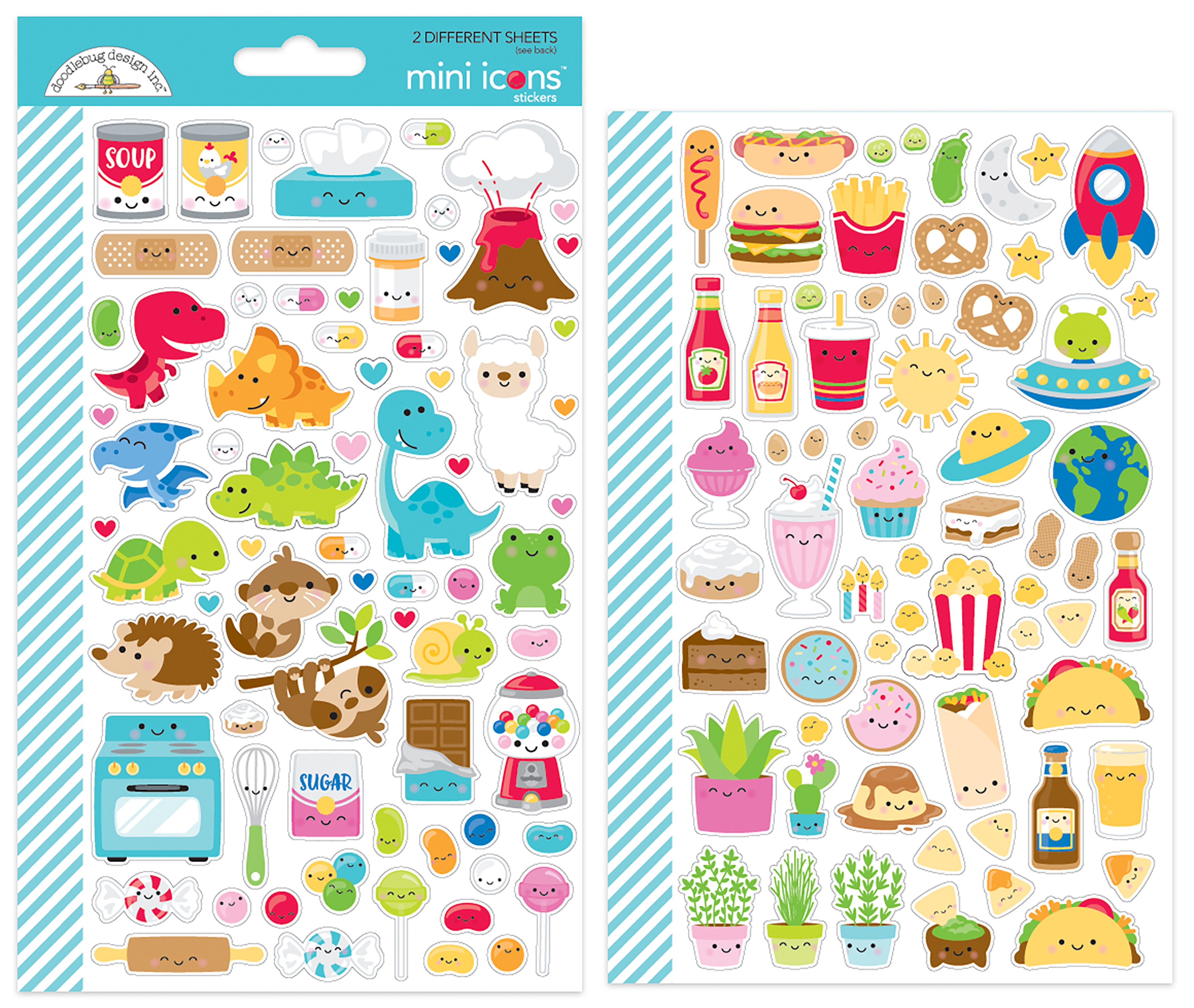 Stickers - So Much Pun Mini Icons (Doodlebug)