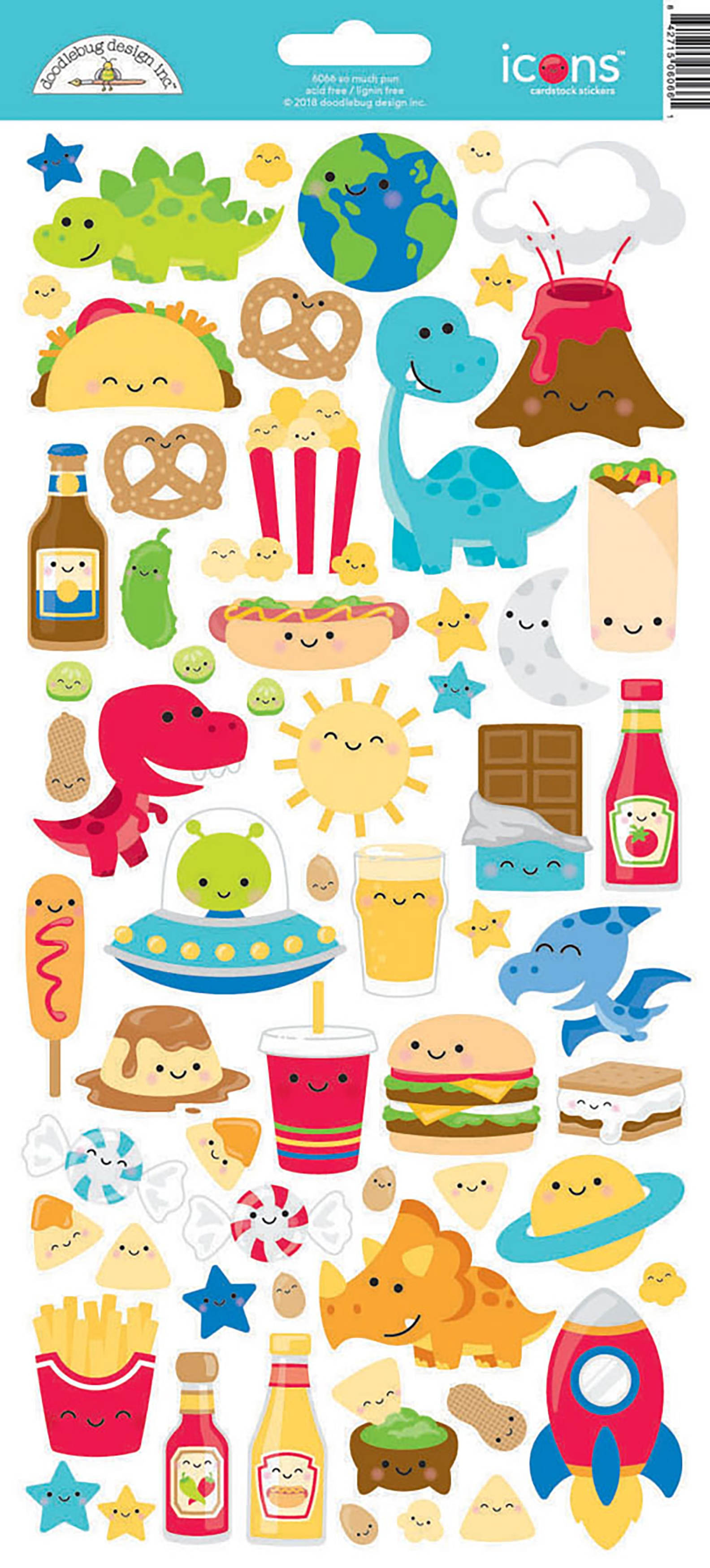 Stickers - So Much Pun Icons (Doodlebug)