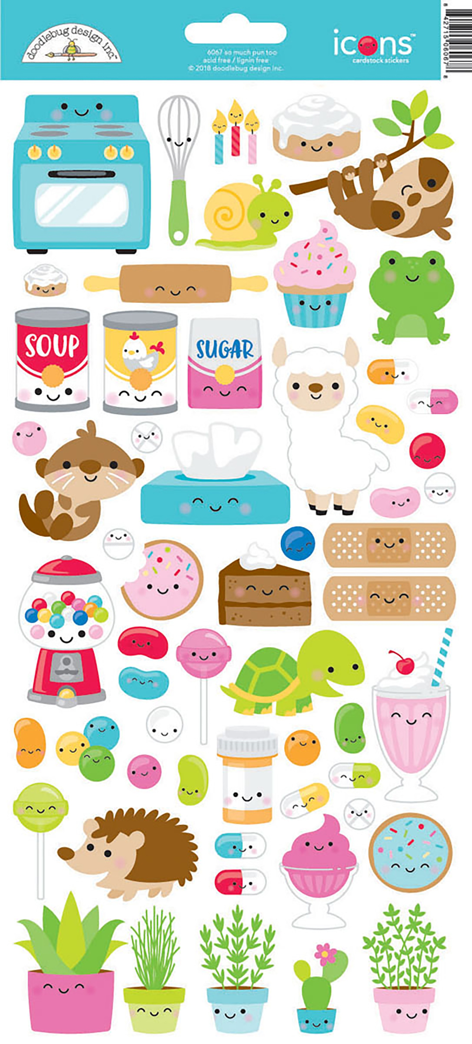 Stickers - So Much Pun Too Icons (Doodlebug)