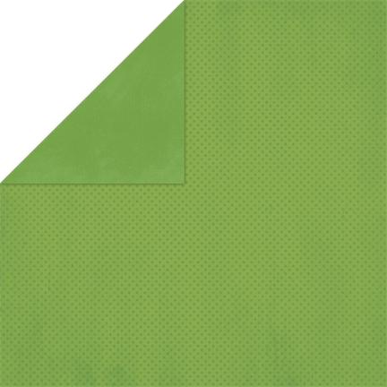 BoBunny Double Dot Double-Sided Textured Cardstock 12X12-Clover