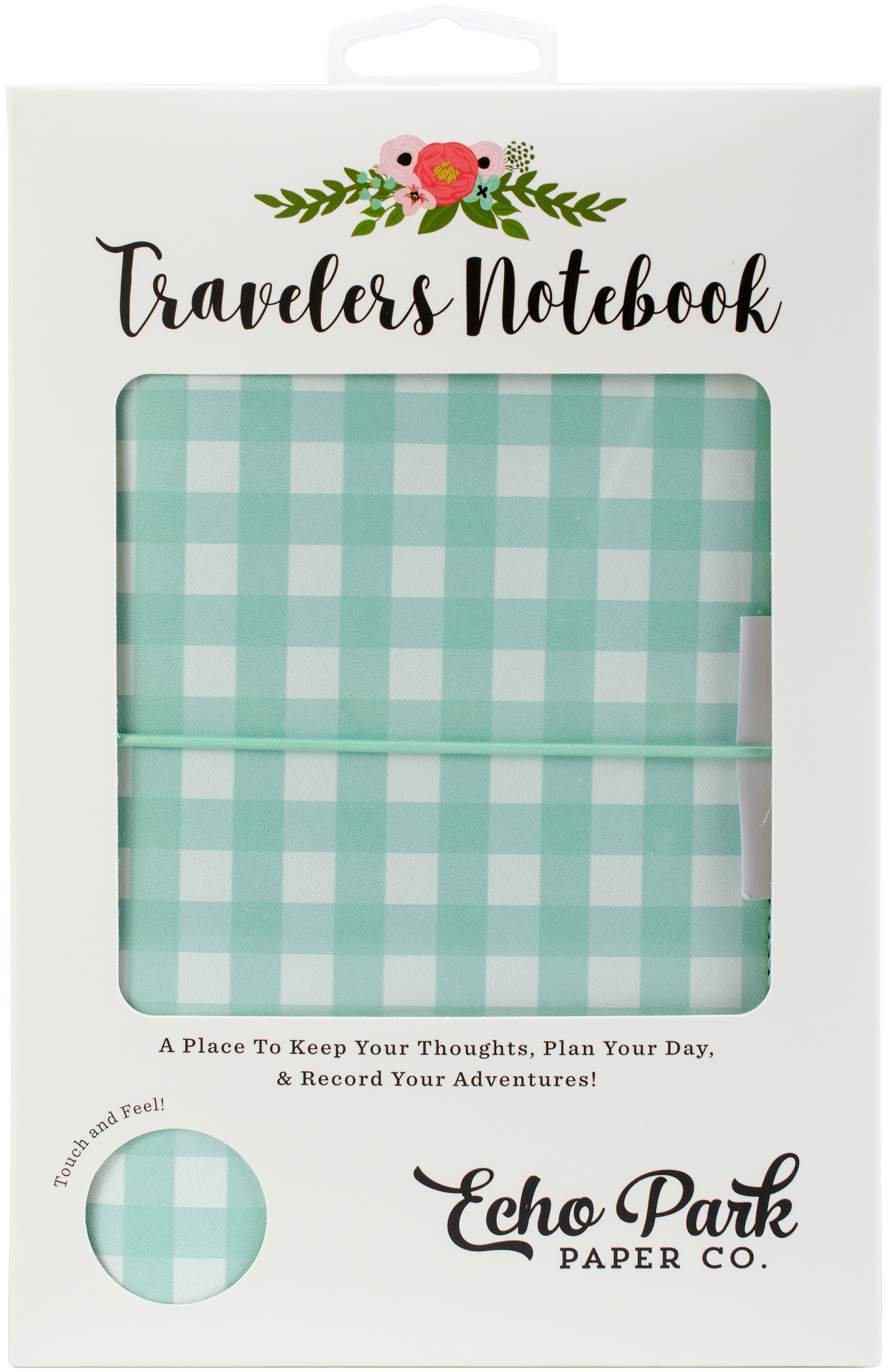 Echo Park - Teal Gingham Travelers Notebook