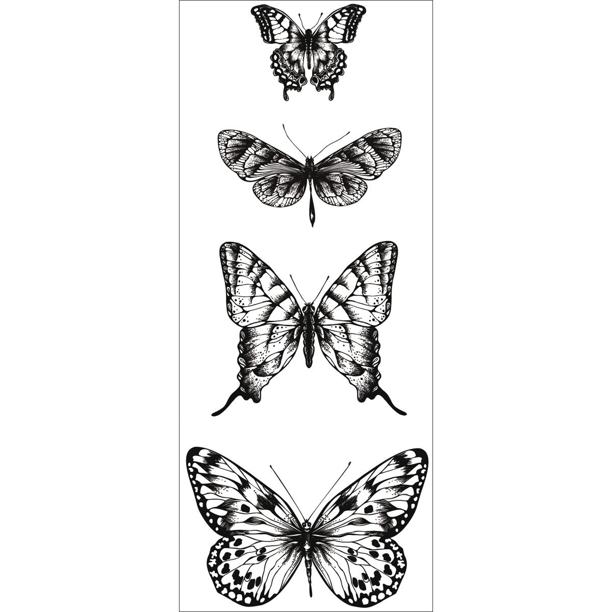Texture Clear Stamps 2X5-Butterflies