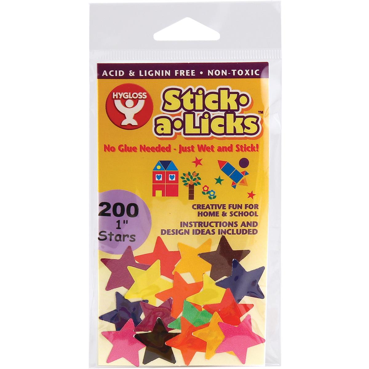 1 STARS  -STICK-A-LICKS 200/PK