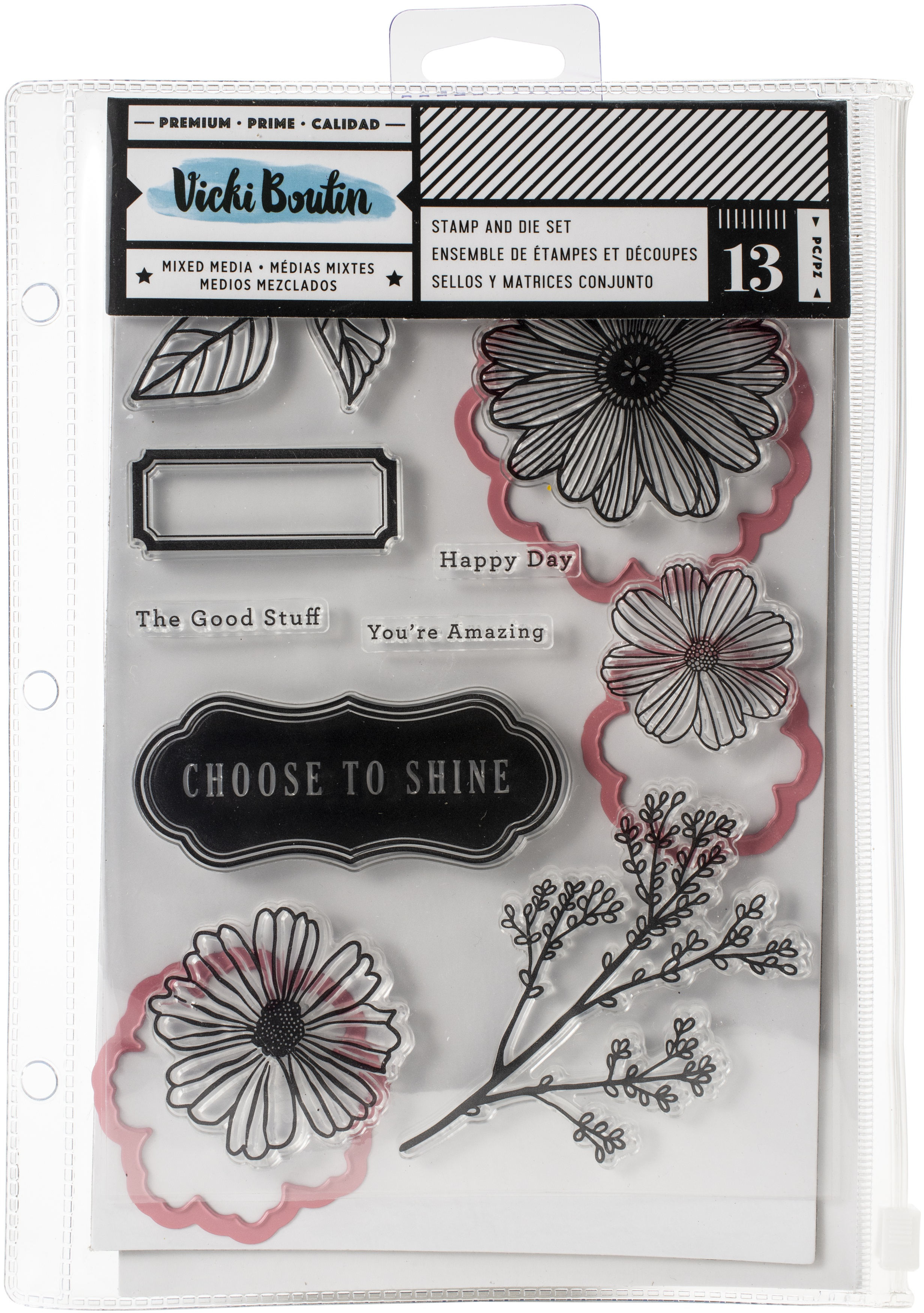 Vicki Boutin Mixed Media Stamp & Dies-Shine