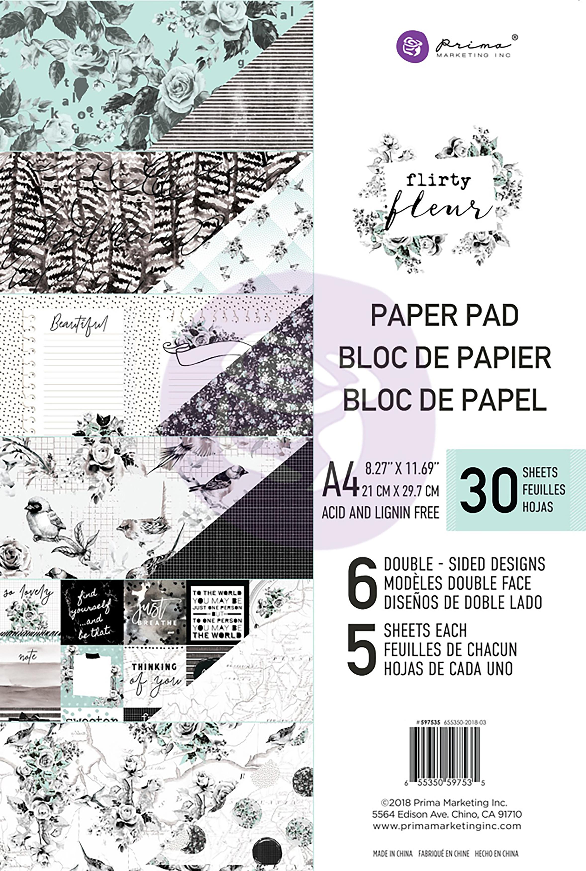 Flirty Fleur - A4 Paper Pad (Prima)