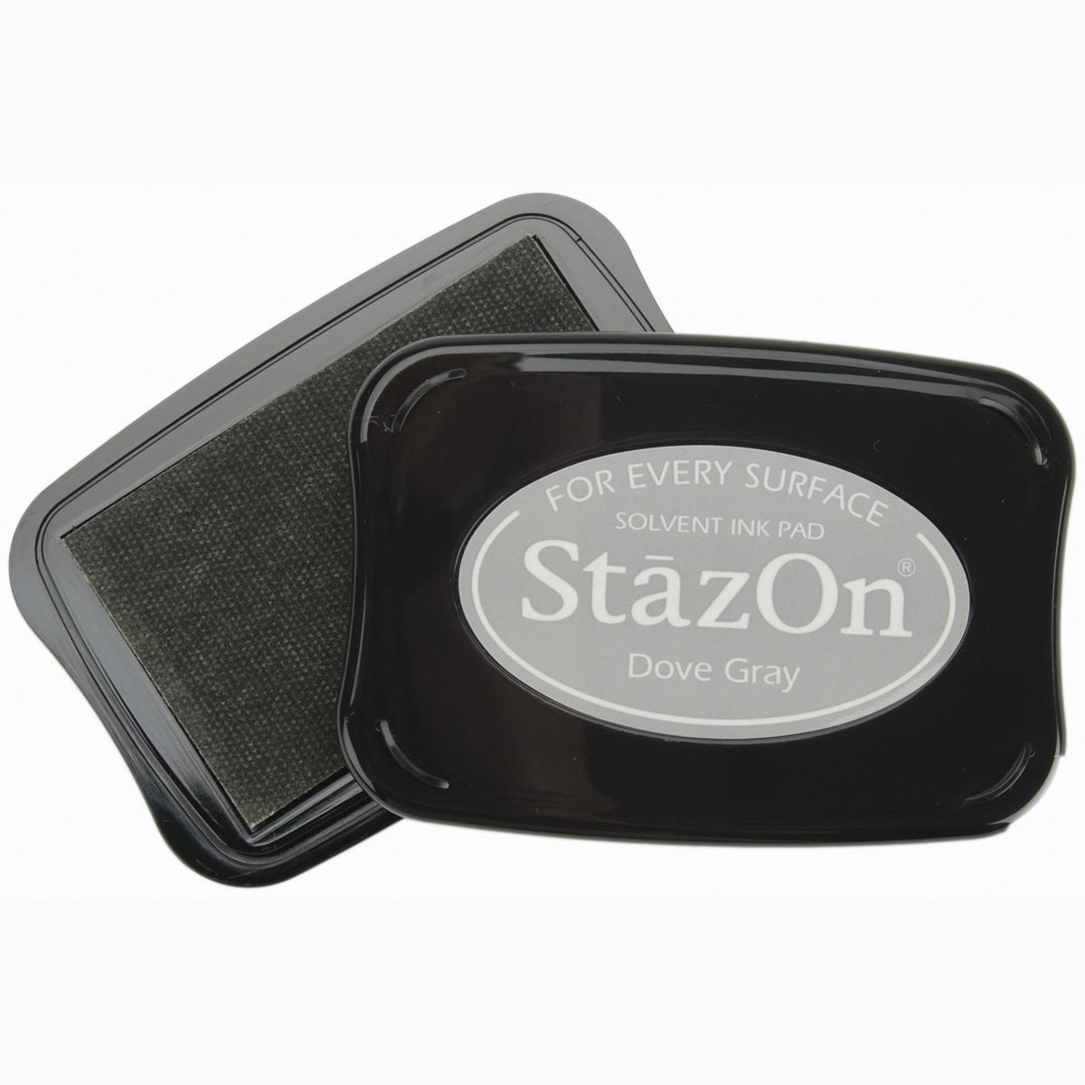 StazOn Solvent Ink Pad-Dove Gray