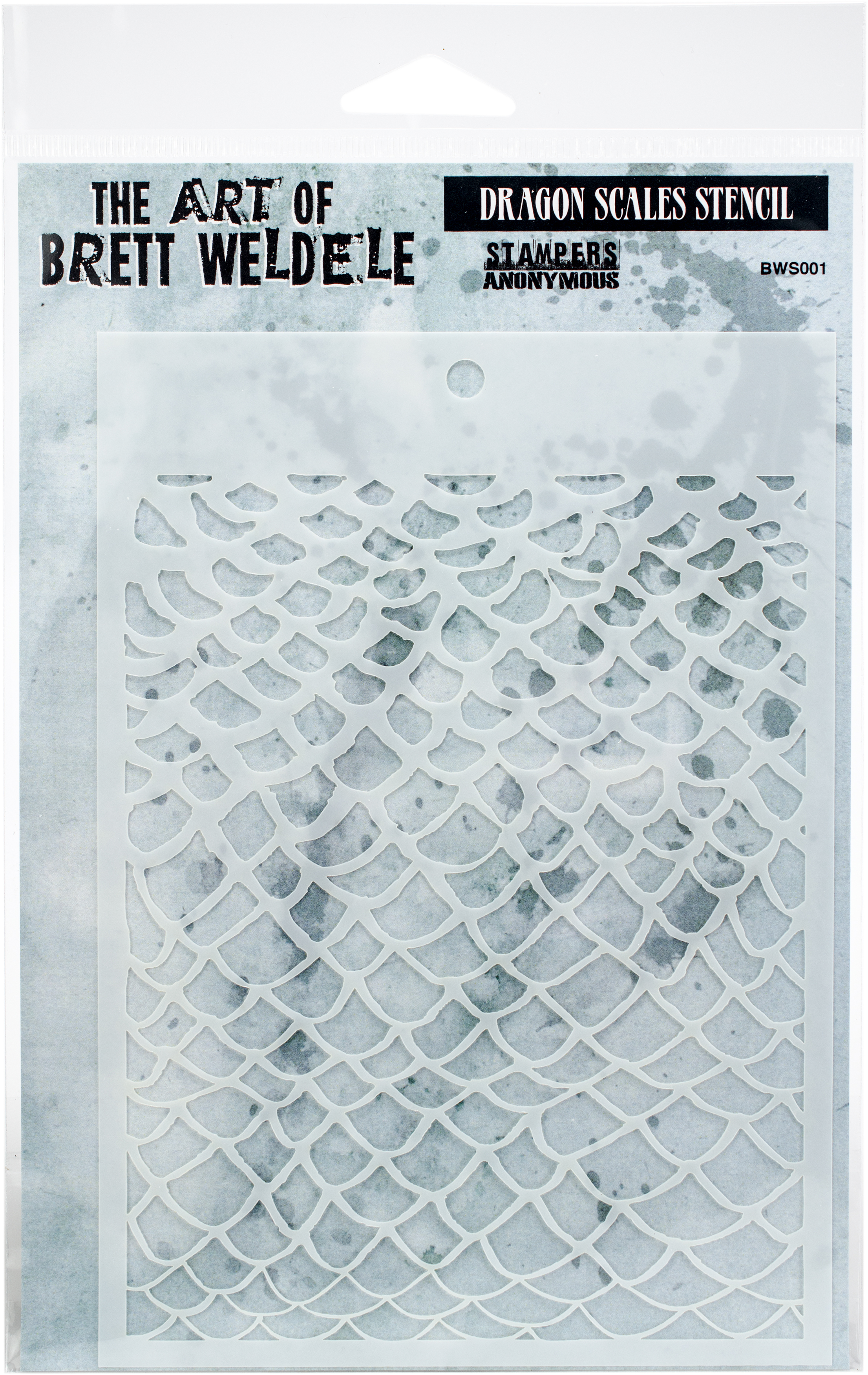 Brett Weldele Stencils 6.5X4.5-Dragon Scales