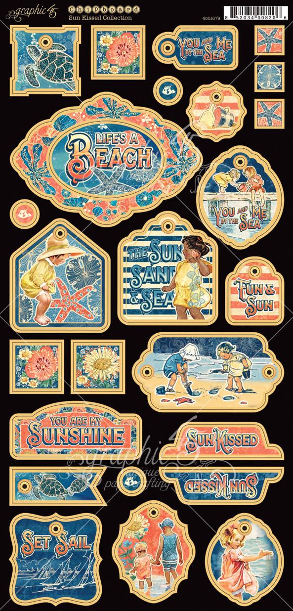Sun Kissed Chipboard Die-Cuts 6X12 Sheet-Decorative & Journaling