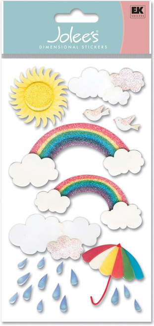 Vellum Stickers Rainbows