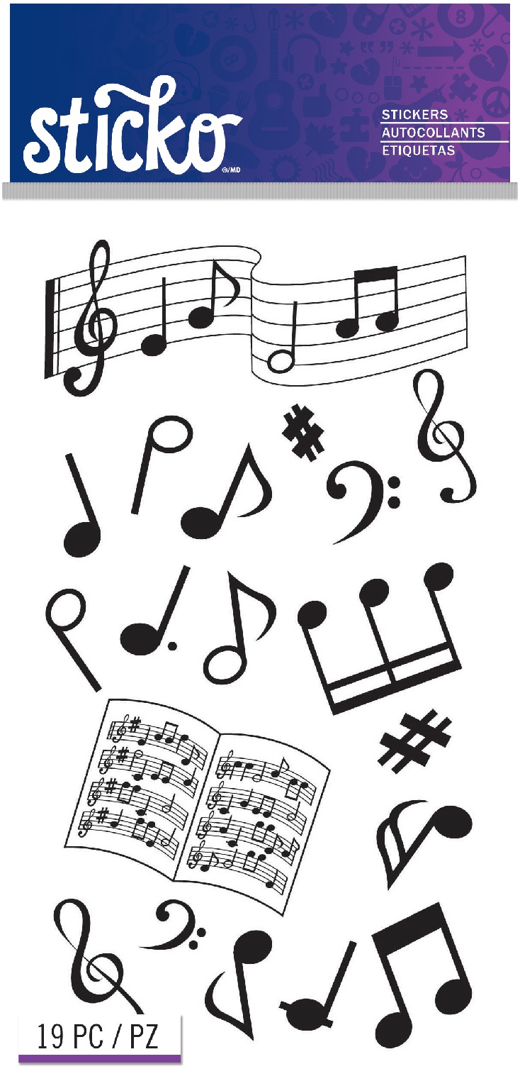 Sticko Stickers-Musical Notes