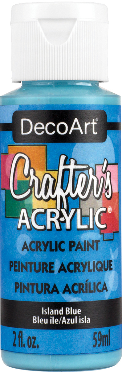 Crafter's Acrylic All-Purpose Paint 2oz-Island Blue