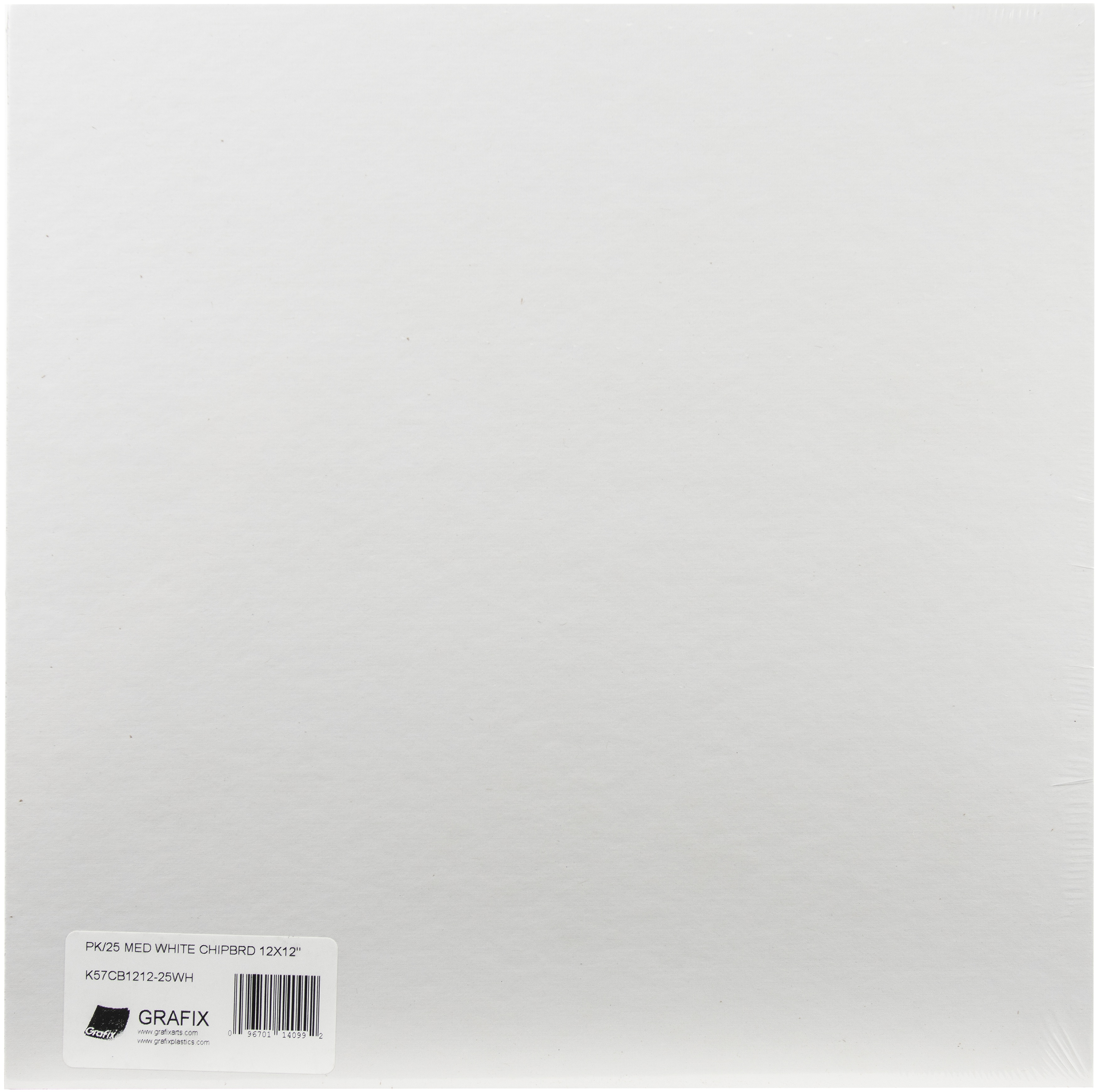 Grafix Medium Weight Chipboard Sheets 12X12 White