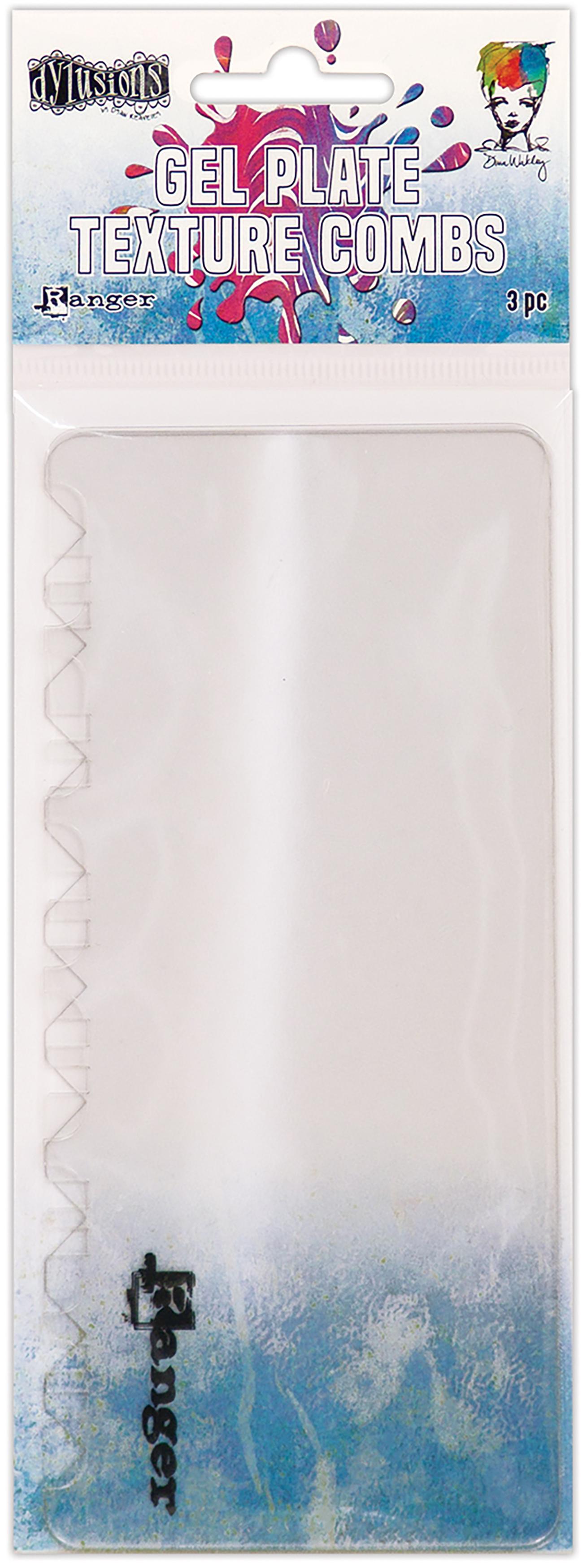 Ranger Gel Press Plate Texture Combs-