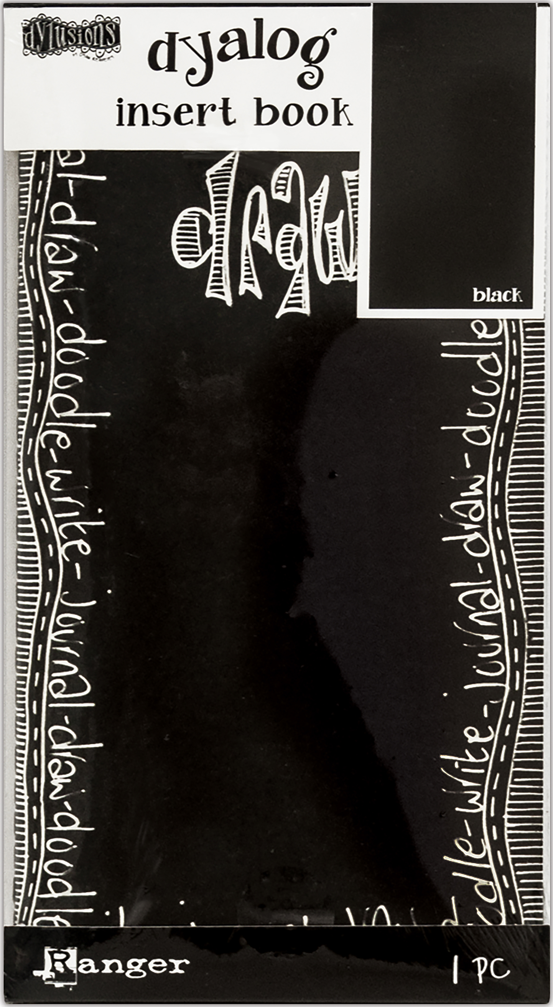 Dyan Reaveley's Dylusions Dyalog Insert Book 4.375X8.25-Black