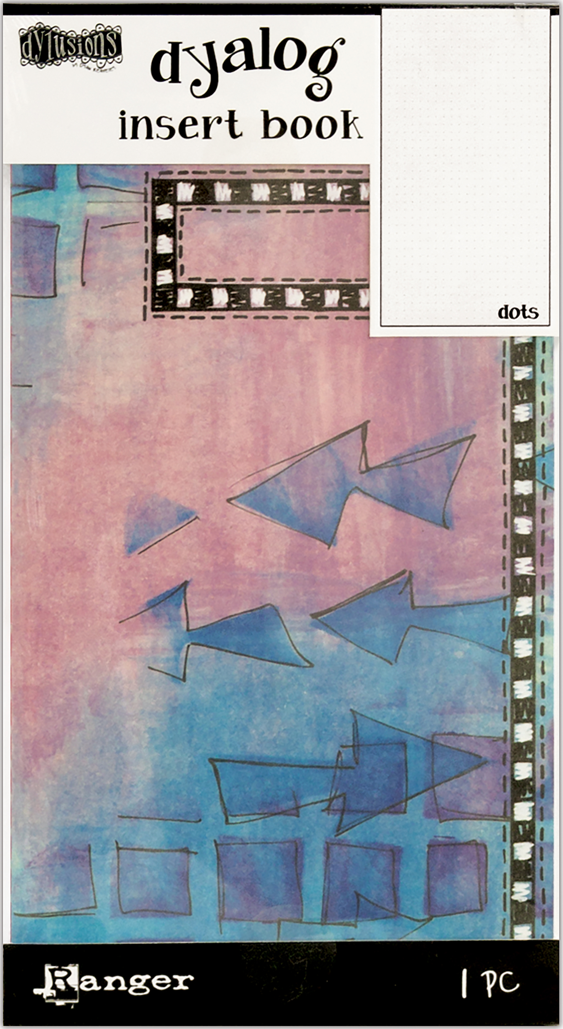 Dyan Reaveley's Dylusions Dyalog Insert Book 4.375X8.25-Dots