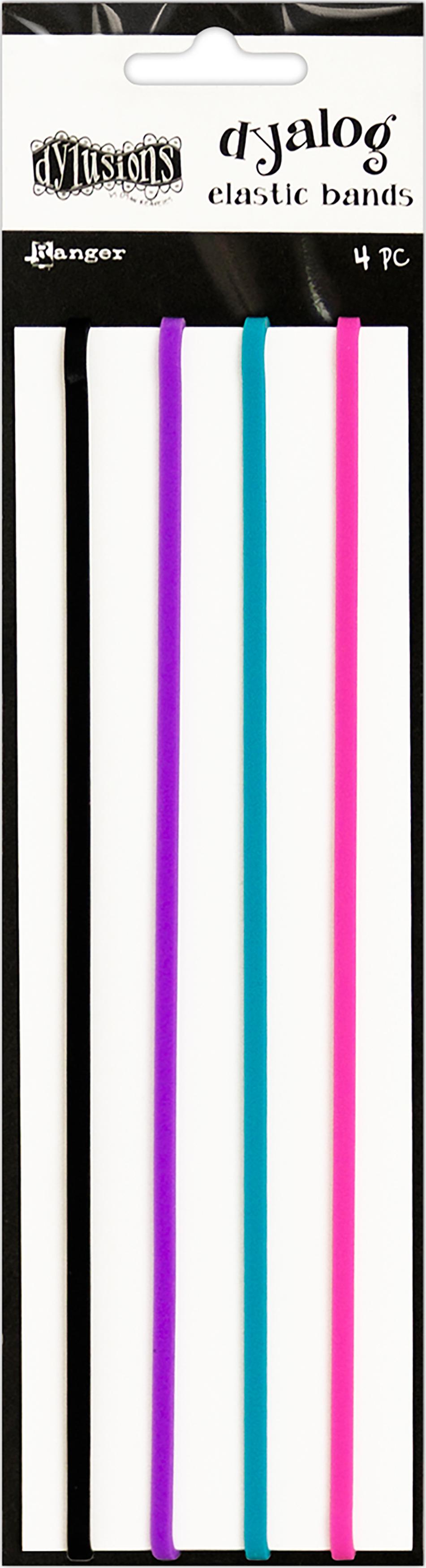 Dyan Reaveley's Dylusions Dyalog Notebook Elastic Bands 4/Pk-