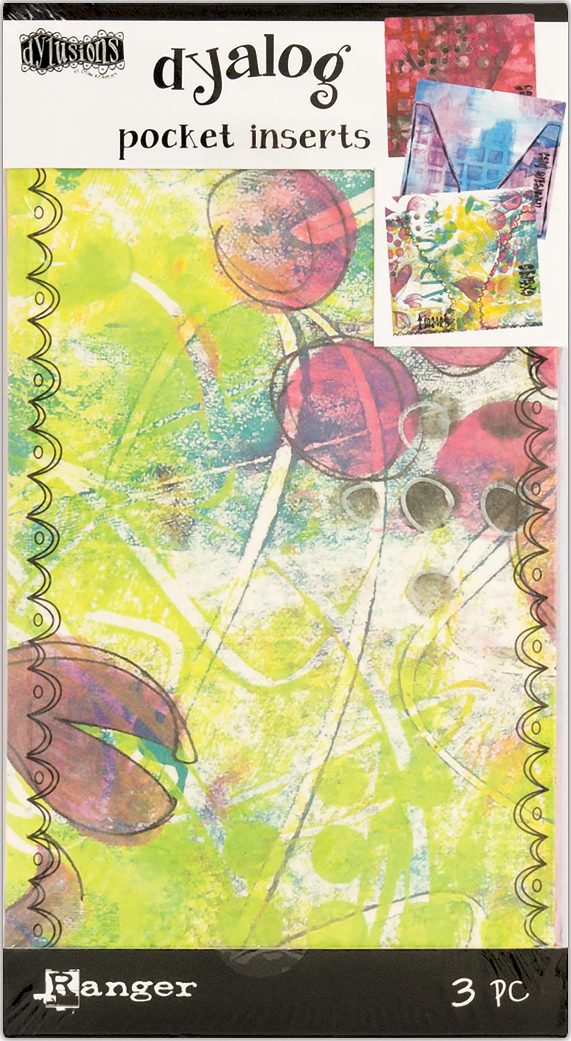 Dyan Reaveley's Dylusions Dyalog Printed Pocket Inserts 3/Pk-
