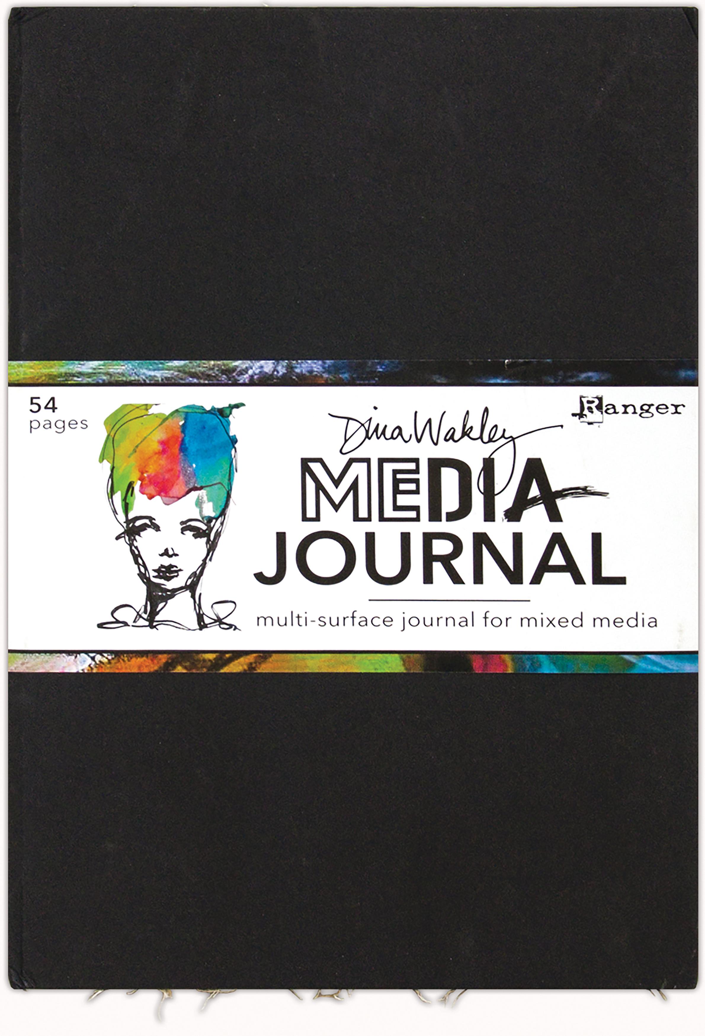 Dina Wakley Media Journal 10X14.25-Black