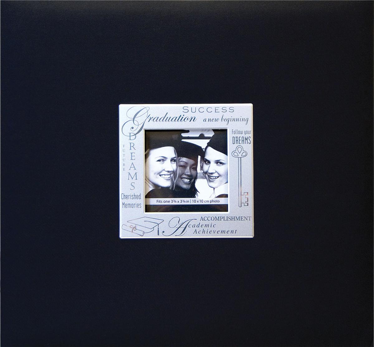 MBI Expressions Post Bound Album W/Window 8X8-Graduation - Black