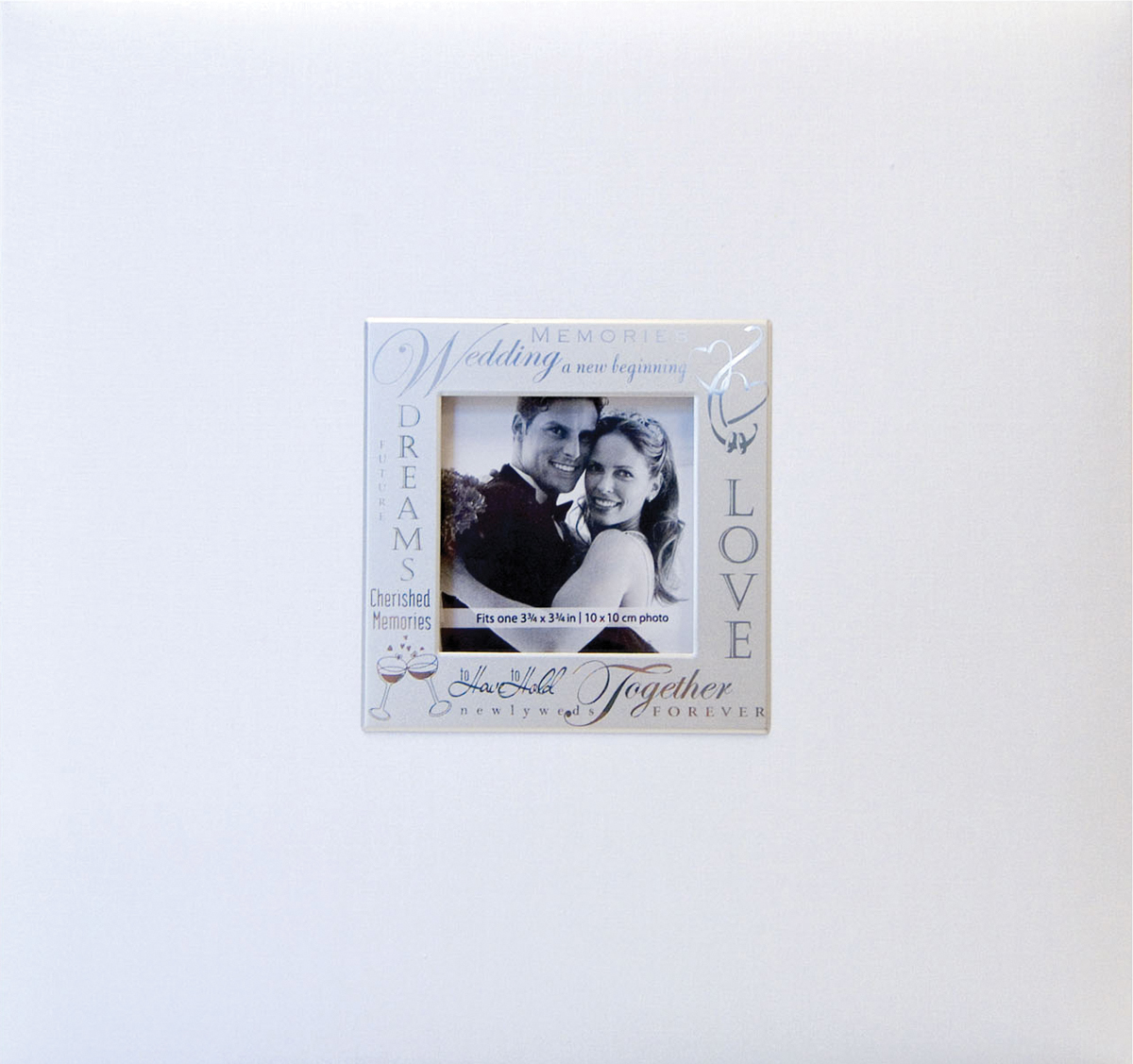 MBI Expressions Post Bound Album W/Window 8X8-Wedding - White