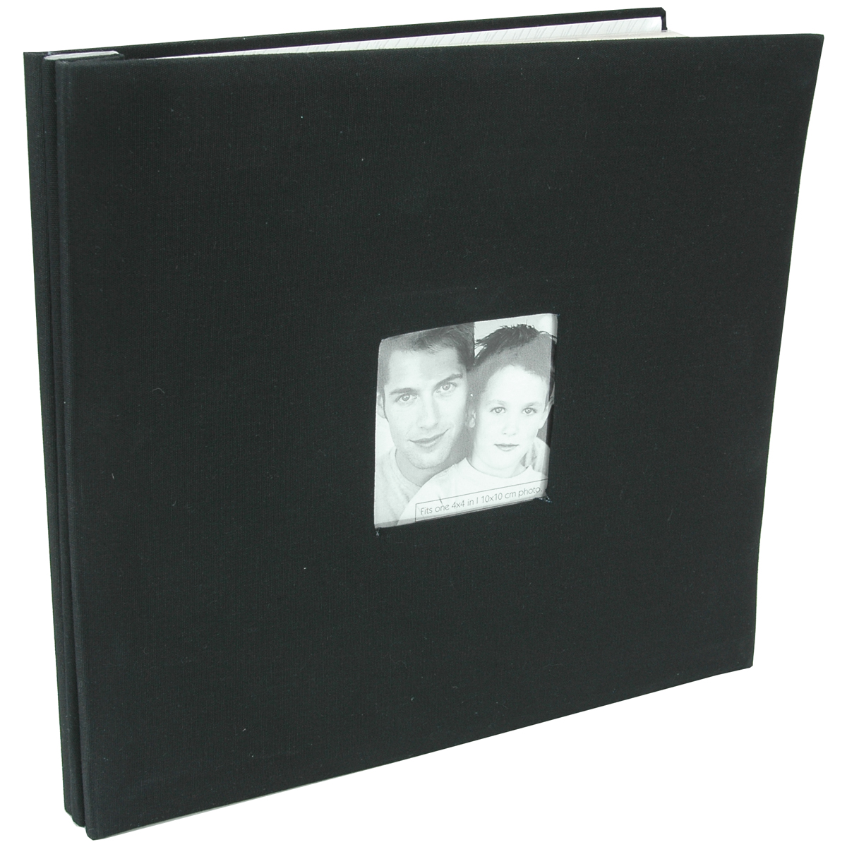 MBI Fashion Fabric Post Bound Album W/Window 12X12-Black