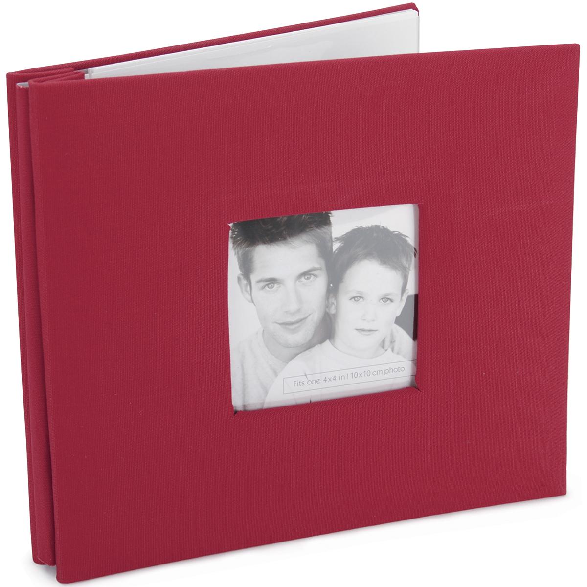 Red Fashion Fabirc 8X8 Album