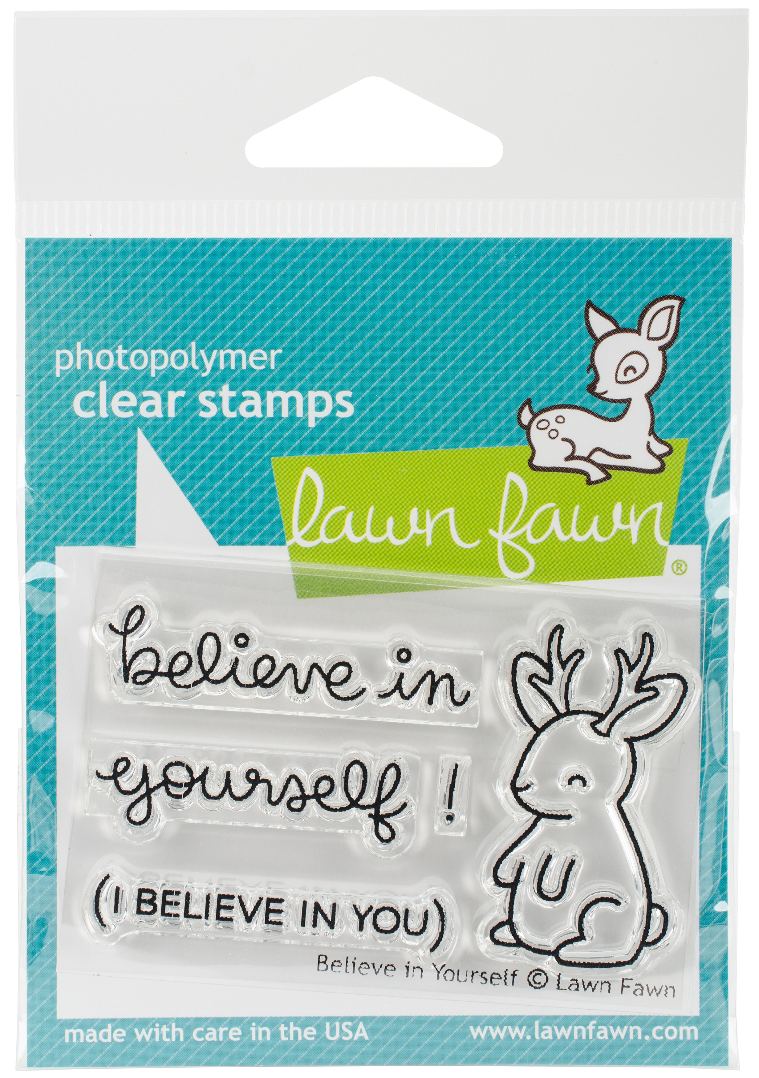 Lawn Fawn Clear Stamps 3X2-Believe In Yourself