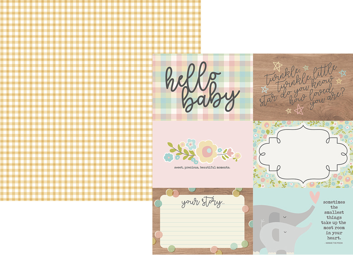 ^Oh Baby! - 4x6 Horizontal Elements - 12x12 Double-Sided Paper (Simple Stories)
