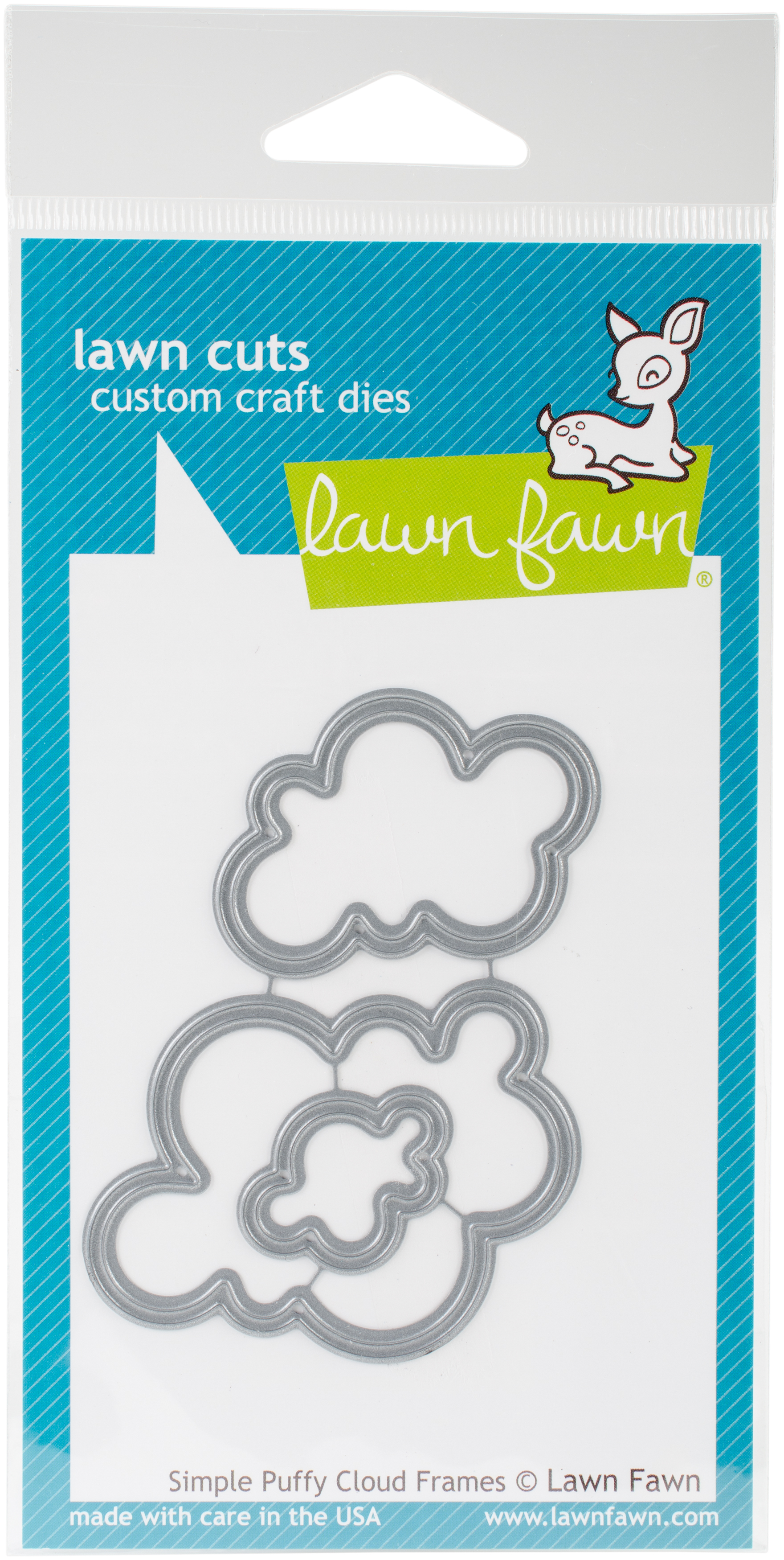 Lawn Cuts Custom Craft Die-Simple Puffy Cloud Frames