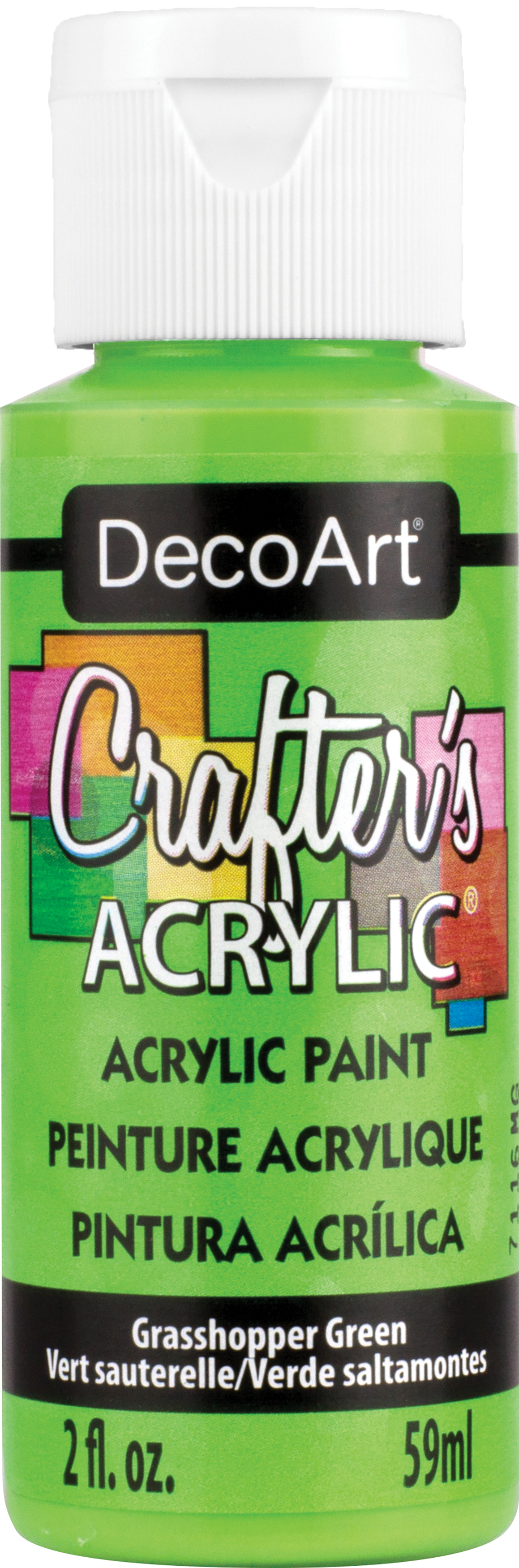 Crafter's Acrylic All-Purpose Paint 2oz-Grasshopper Green