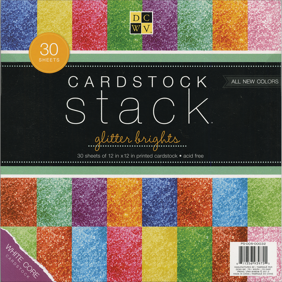 SOLID 30PD-GLITTER STACK 12X12