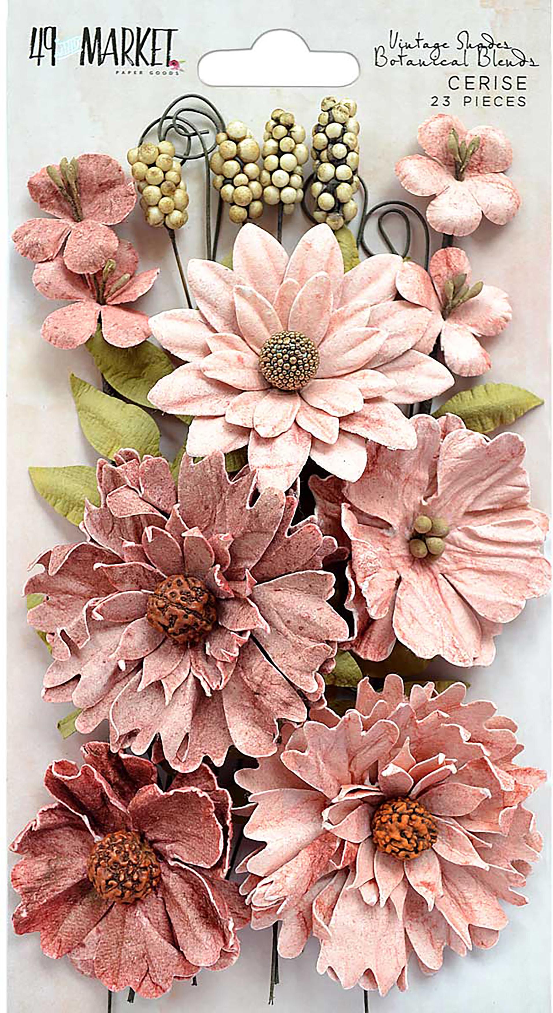 Vintage Shades-Cerise Botanical