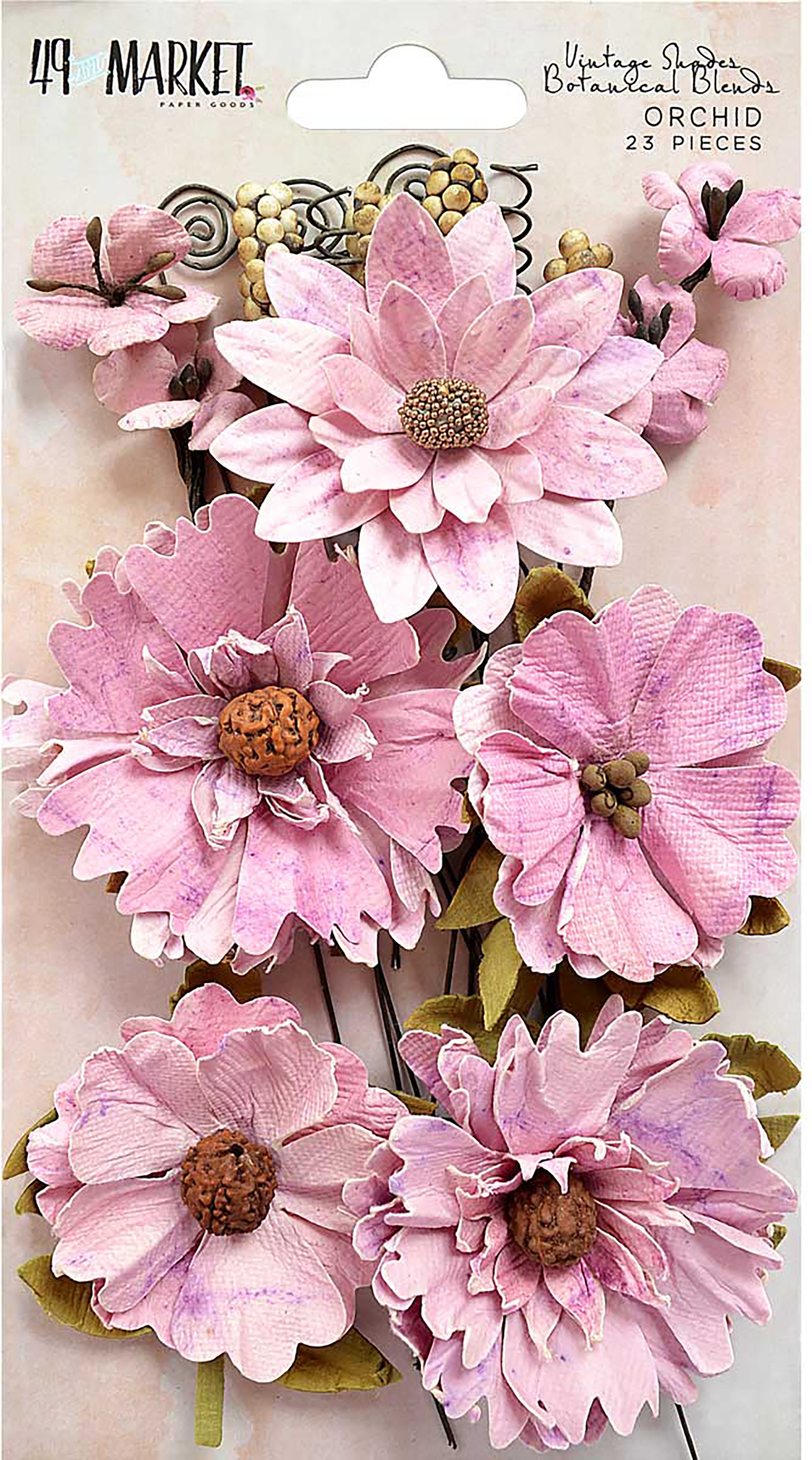 Vintage Shades-Orchid Botanical