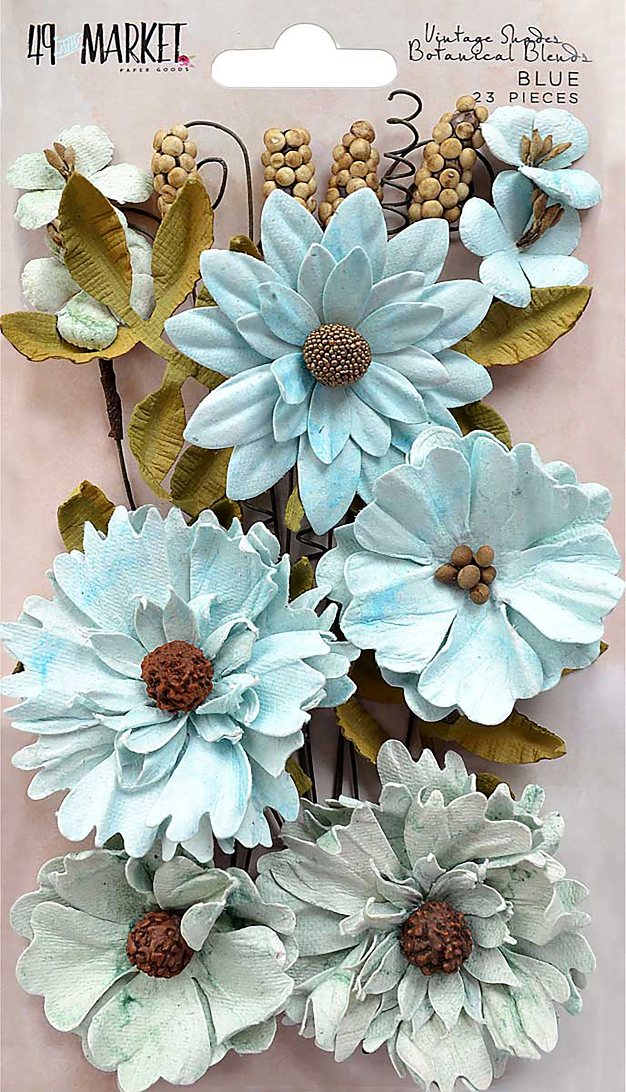Vintage Shades-Blue Botanical