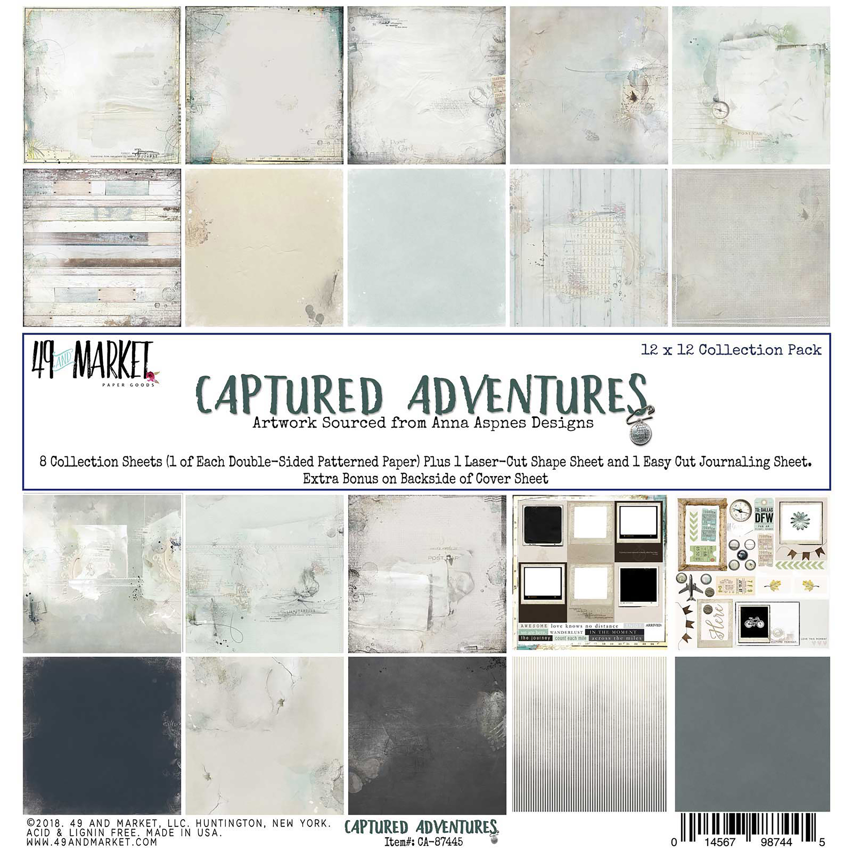 49 And Market Collection Pack 12X12-Captured Adventure