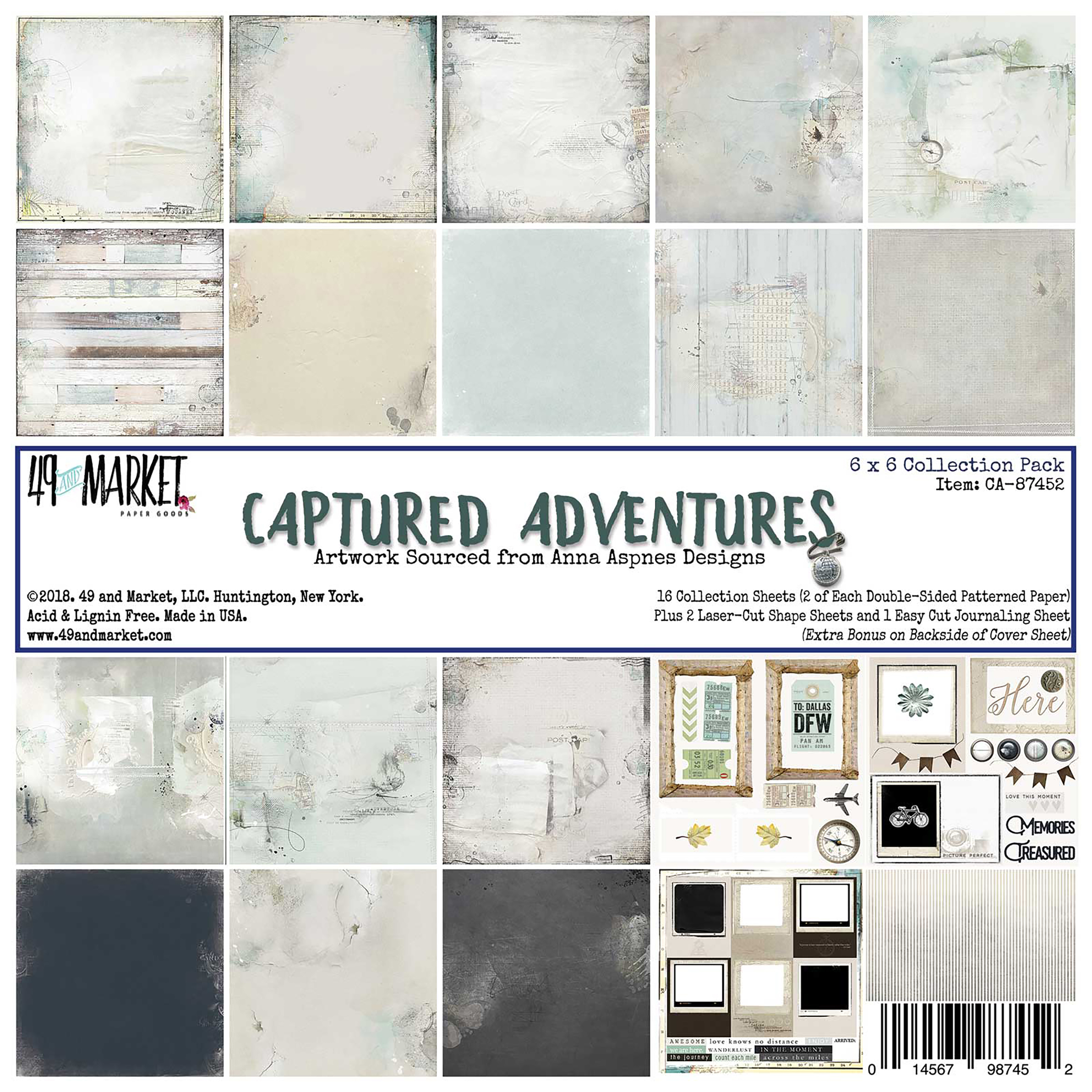 49 And Market Collection Pack 6X6-Captured Adventure