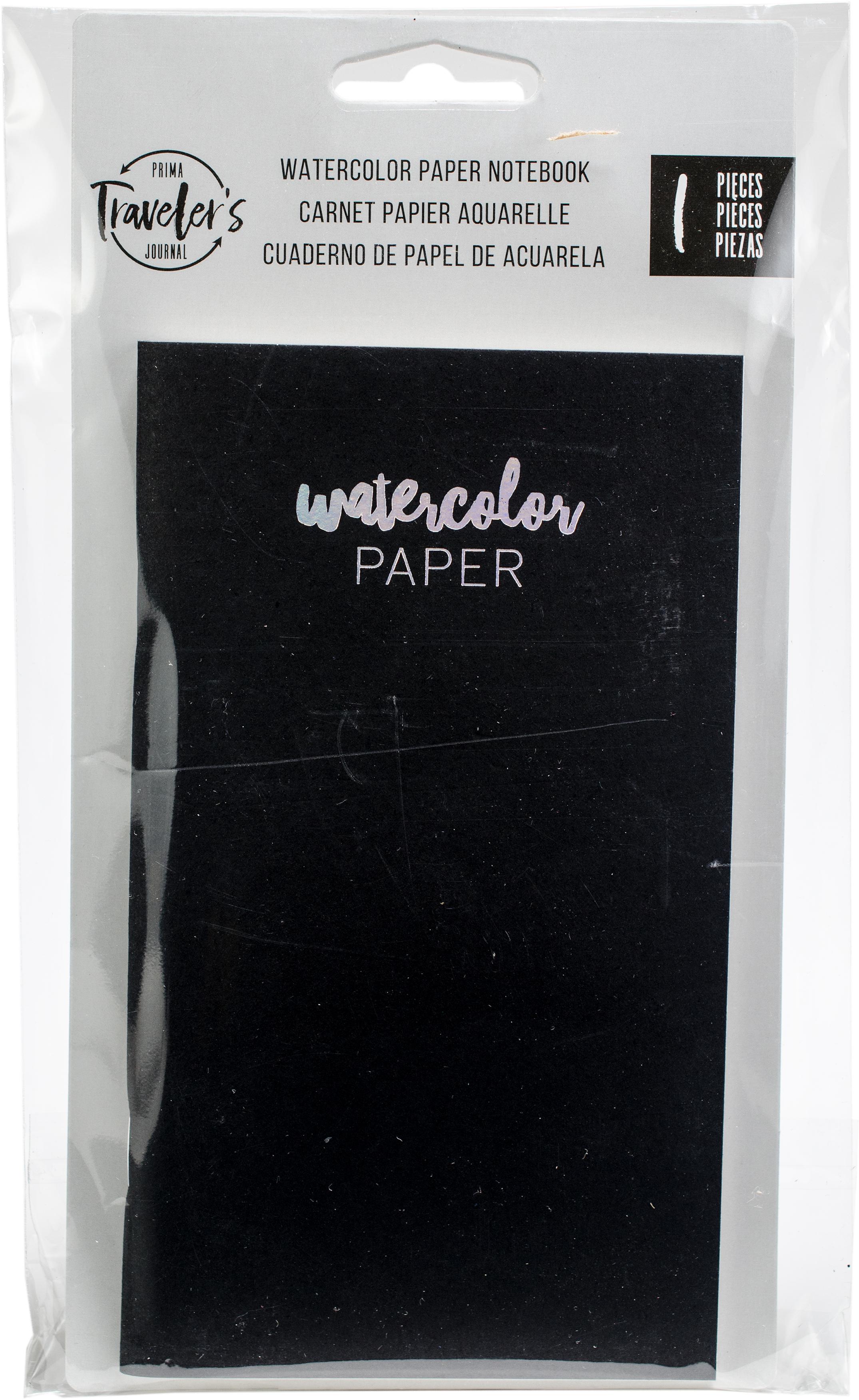 Prima Marketing Traveler's Journal Personal Refill Notebook-Watercolor Paper