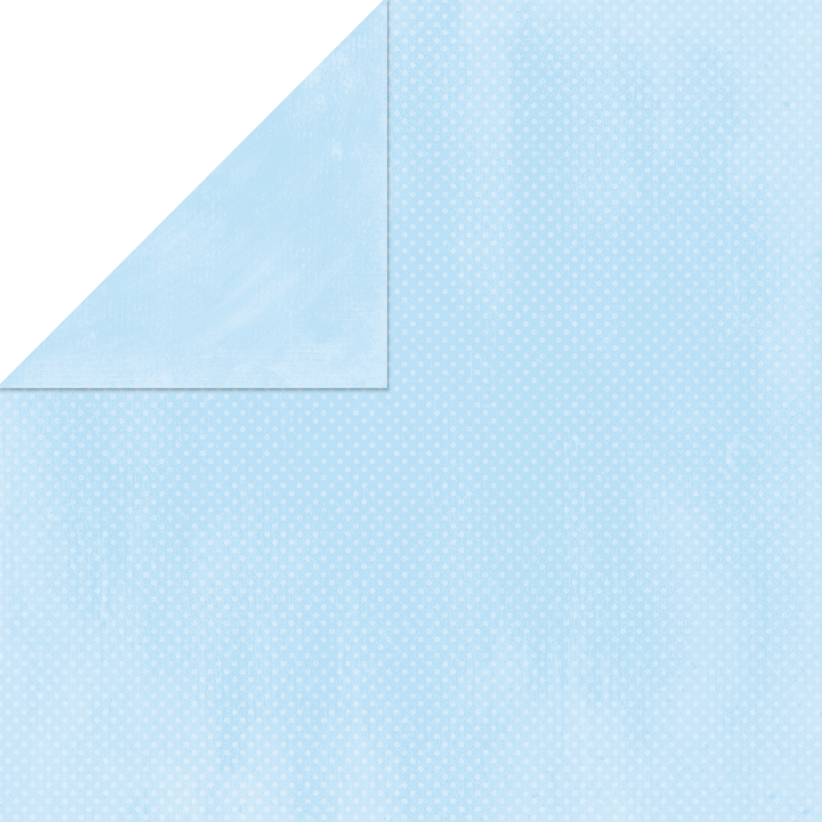 BoBunny Double Dot Double-Sided Textured Cardstock 12X12-Powder Blue