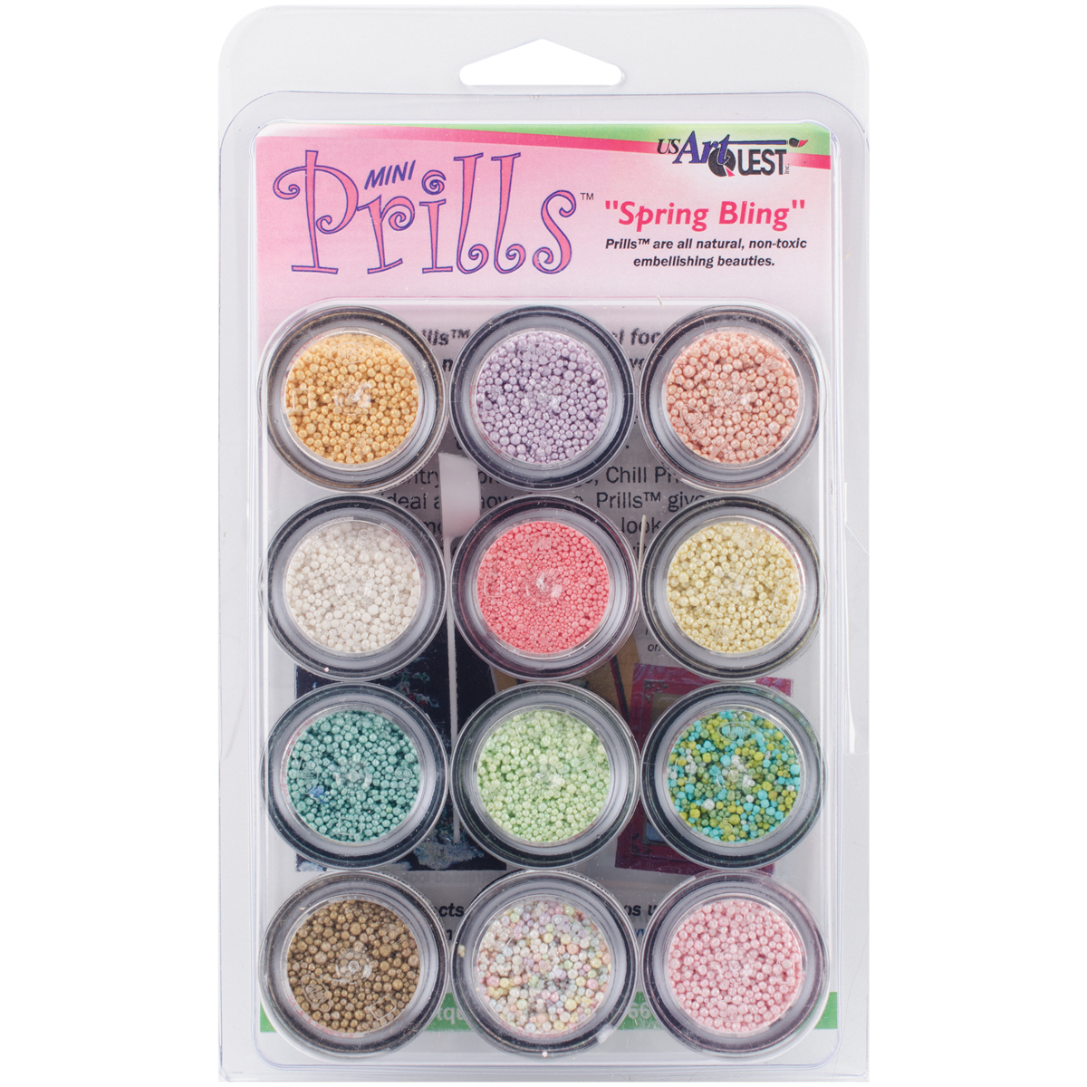 US Artquest Mini Prills 3g 12/Pkg-Spring Bling
