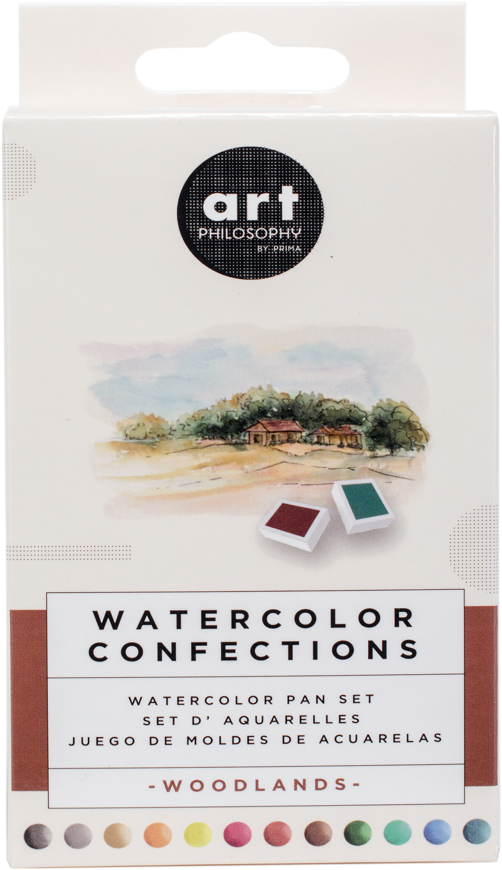 Prima Watercolor Confections Pans Woodlands