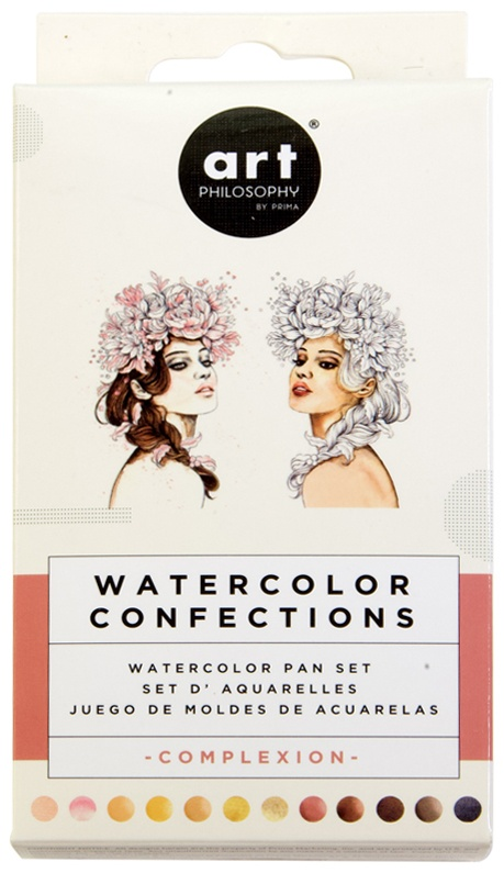 Prima Watercolor Confections Watercolor Pans 12/Pkg-Complexion
