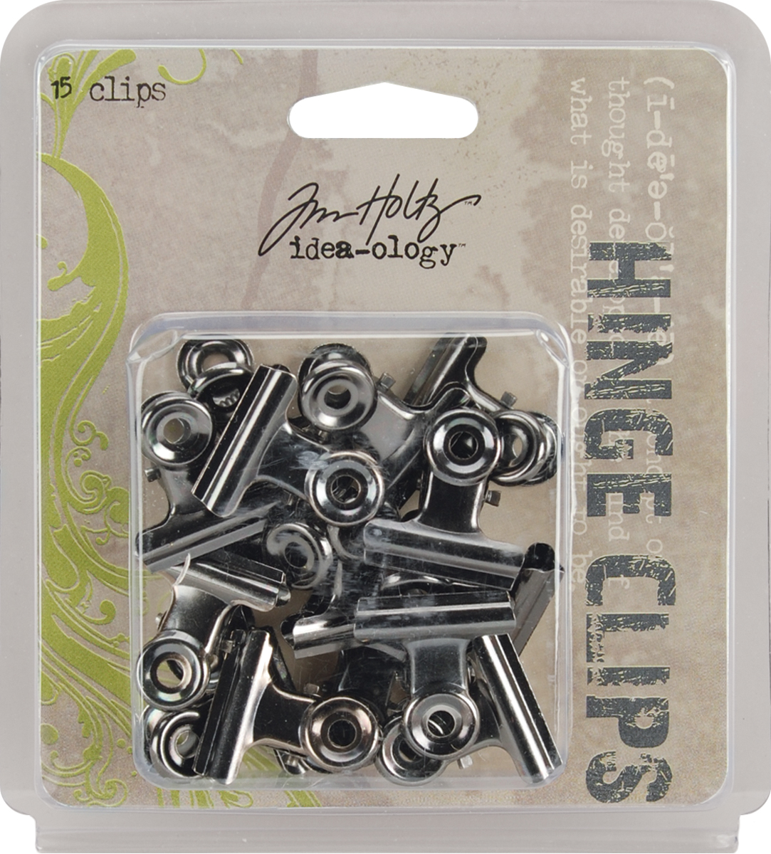 Idea-Ology Metal Hinge Clips 1 15/Pkg-Antique Nickel
