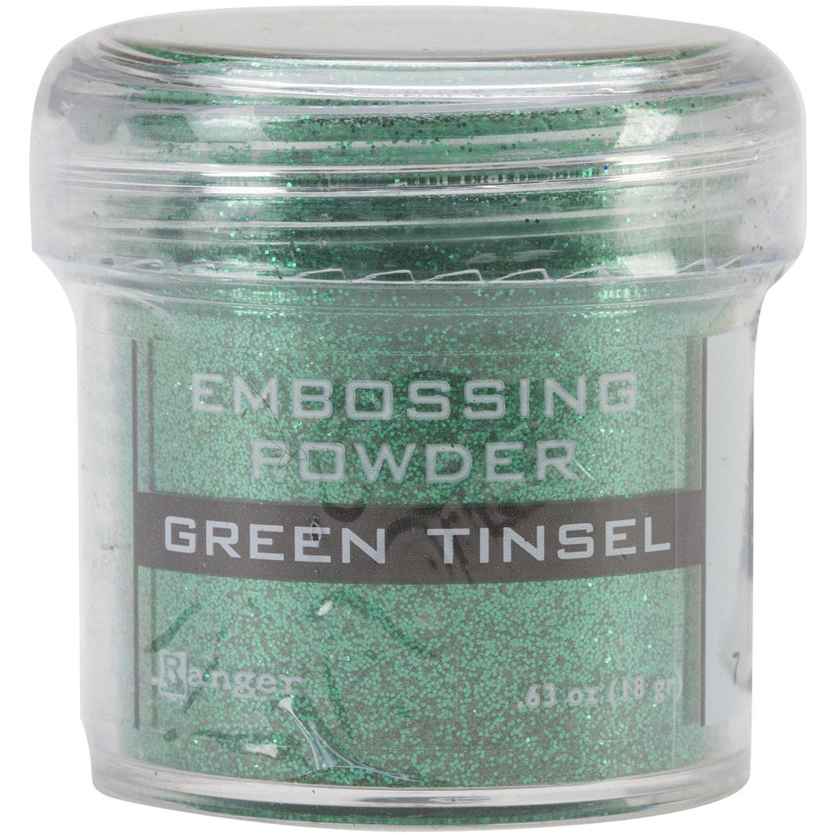 EMBOSSING POWDER- GREEN TINSEL
