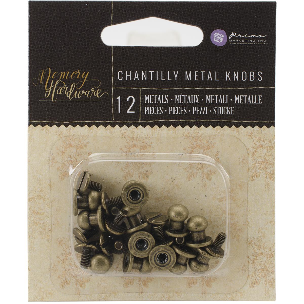 Prima Chantilly Metal Knobs, 12/pkg