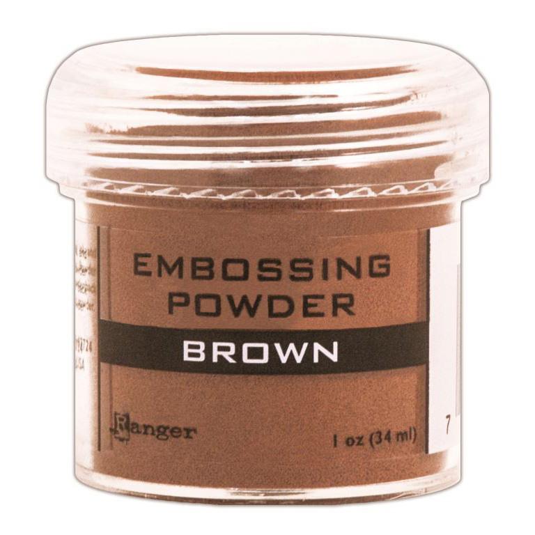 BROWN     -EMBOSSING POWDER 1OZ