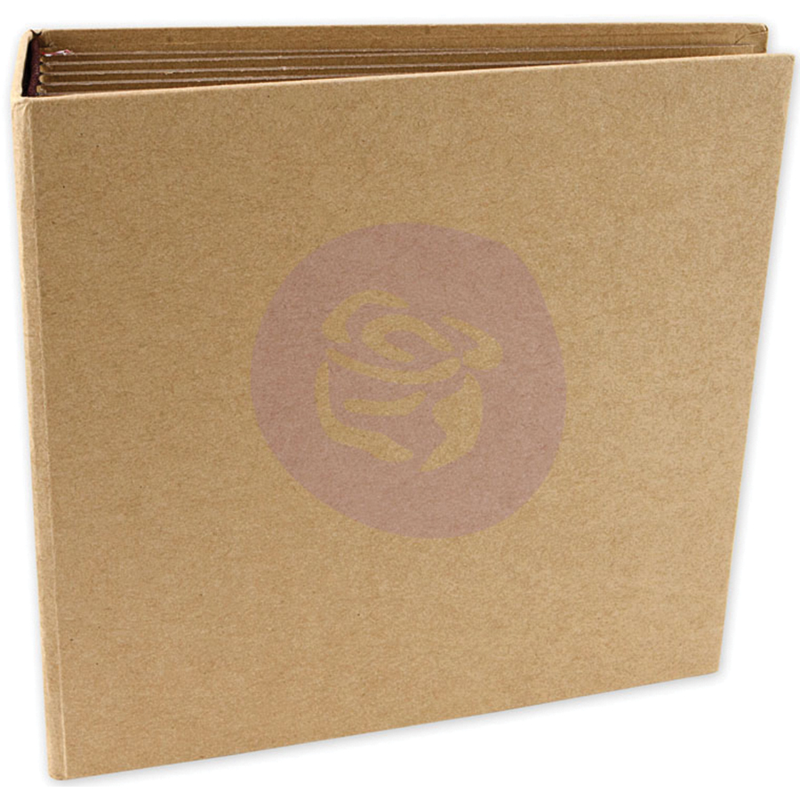 Prima Memory Hardware Chipboard Journal 6.5X6.75-Kraft Square W/6 Pages